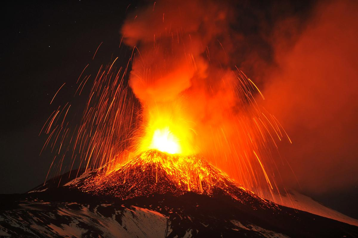 The breath-taking wonder of the world: the Sicilian Mount Etna