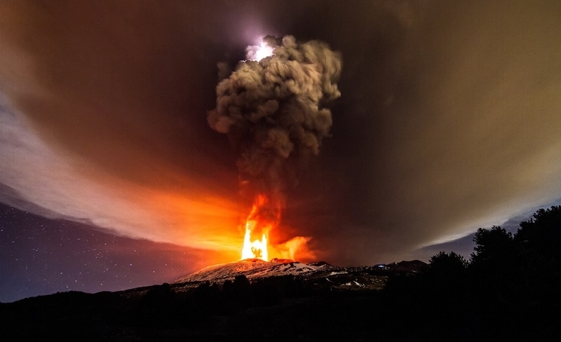 The Eruption of Etna was accompanied by a unique phenomenon.