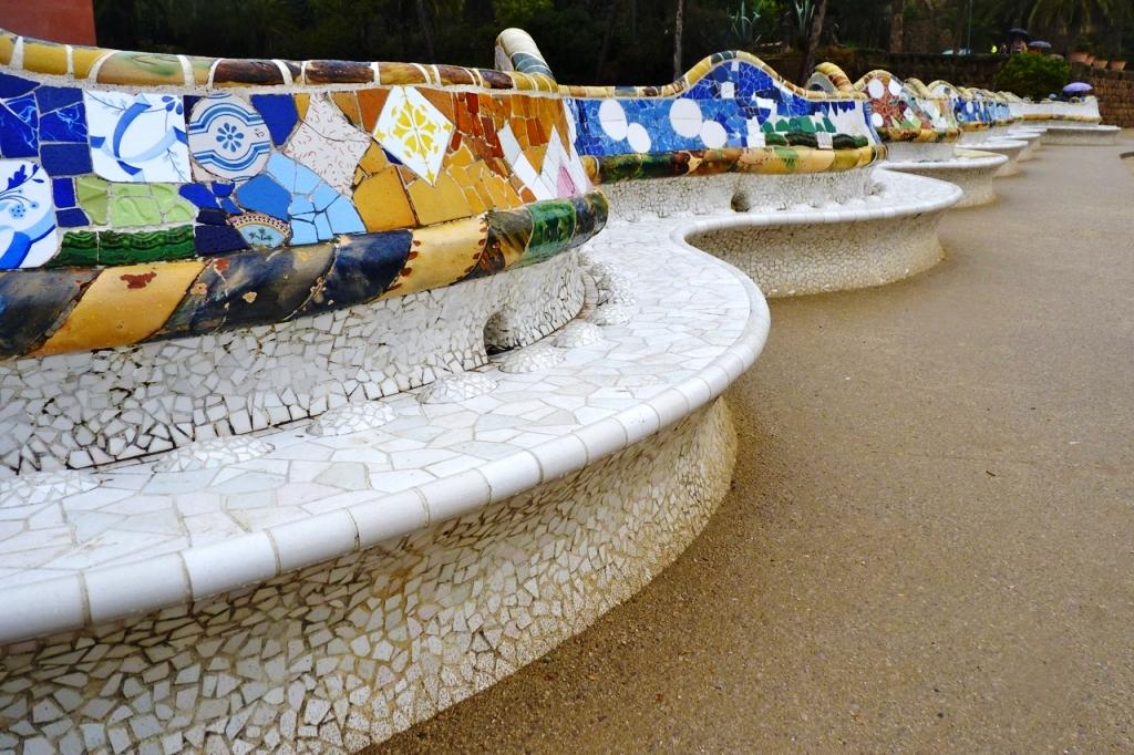Antoni Gaudi Stunning Benches In Park G 252 Ell Barcelona